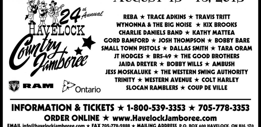 Havelock Country Jamboree Black and White Ad