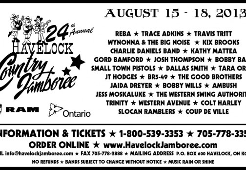 Havelock Country Jamboree Black and White Ad