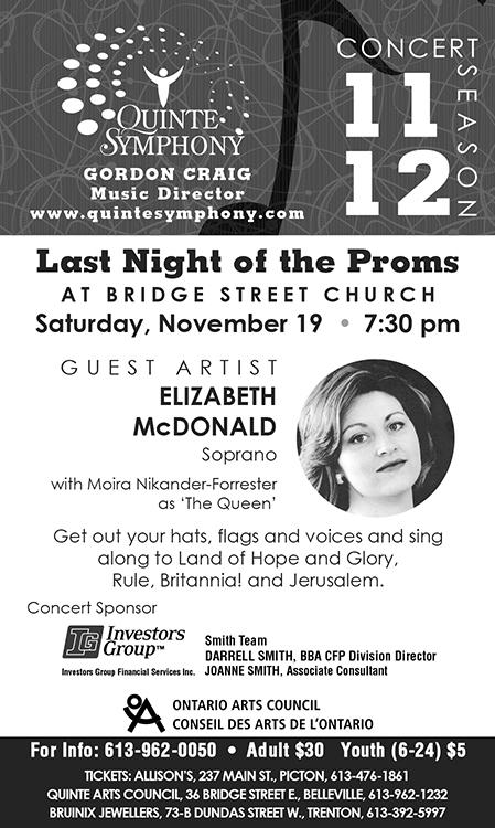 Quinte Symphony Newspaper Ad